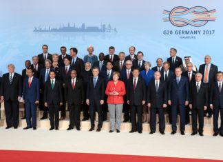 Gruppenfoto der G20 Staats- und Regierungschefs